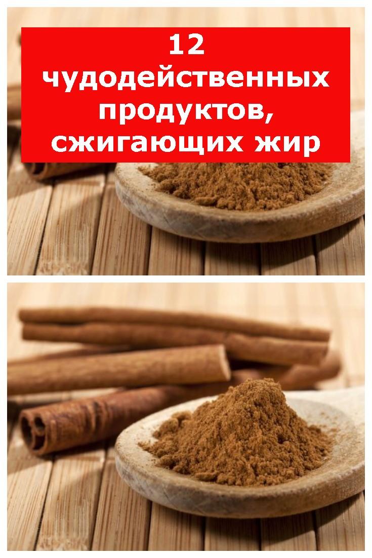 12 чудодейственных продуктов, сжигающих жир
